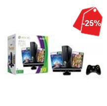Linio: Xbox 360 de 4GB con Kinect y 2 juegos a $3,803 o con FIFA 13 a $3,383