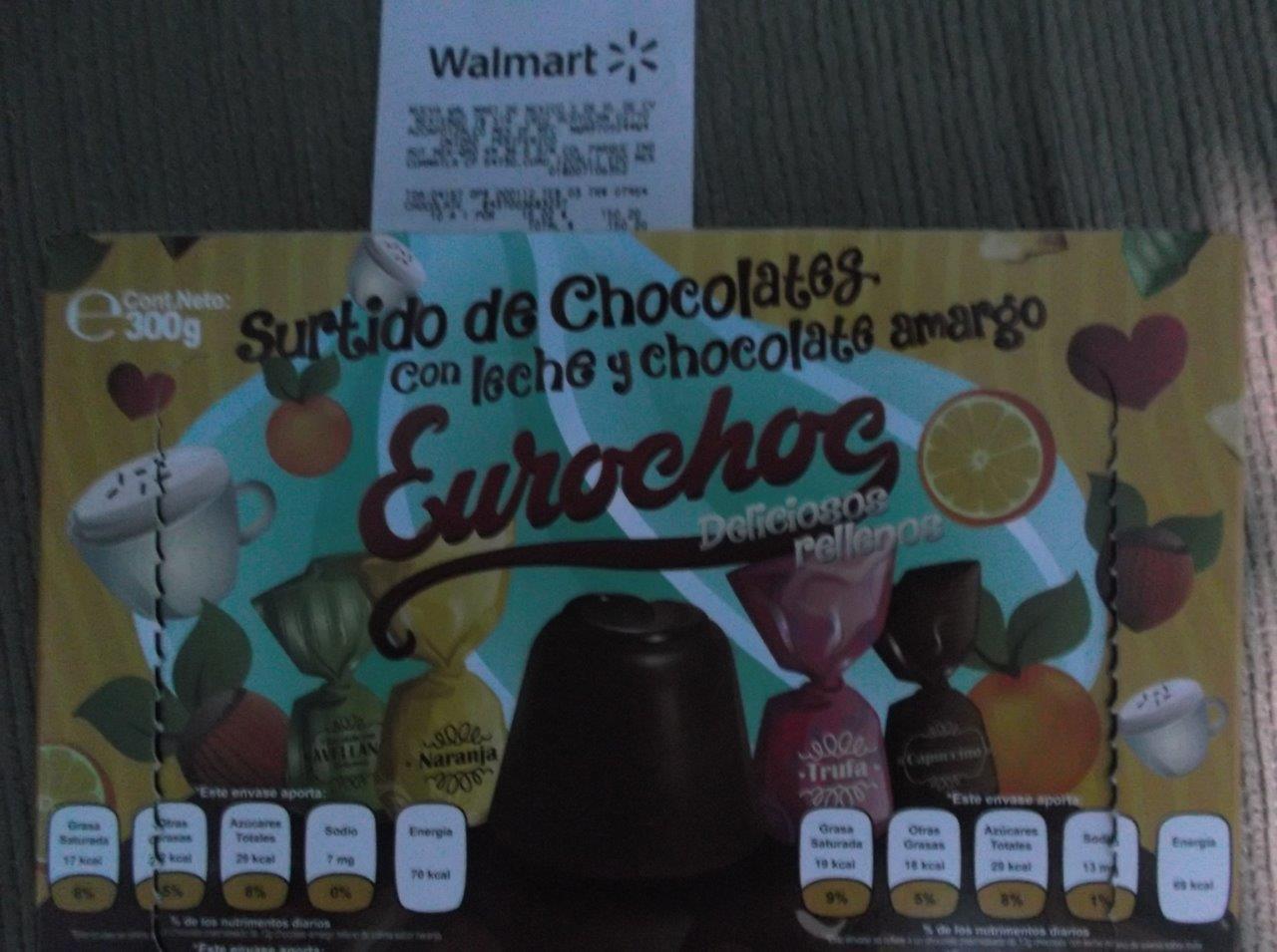 Walmart Periferico Cuautitlán: Chocolates Eurochoc a $15.02