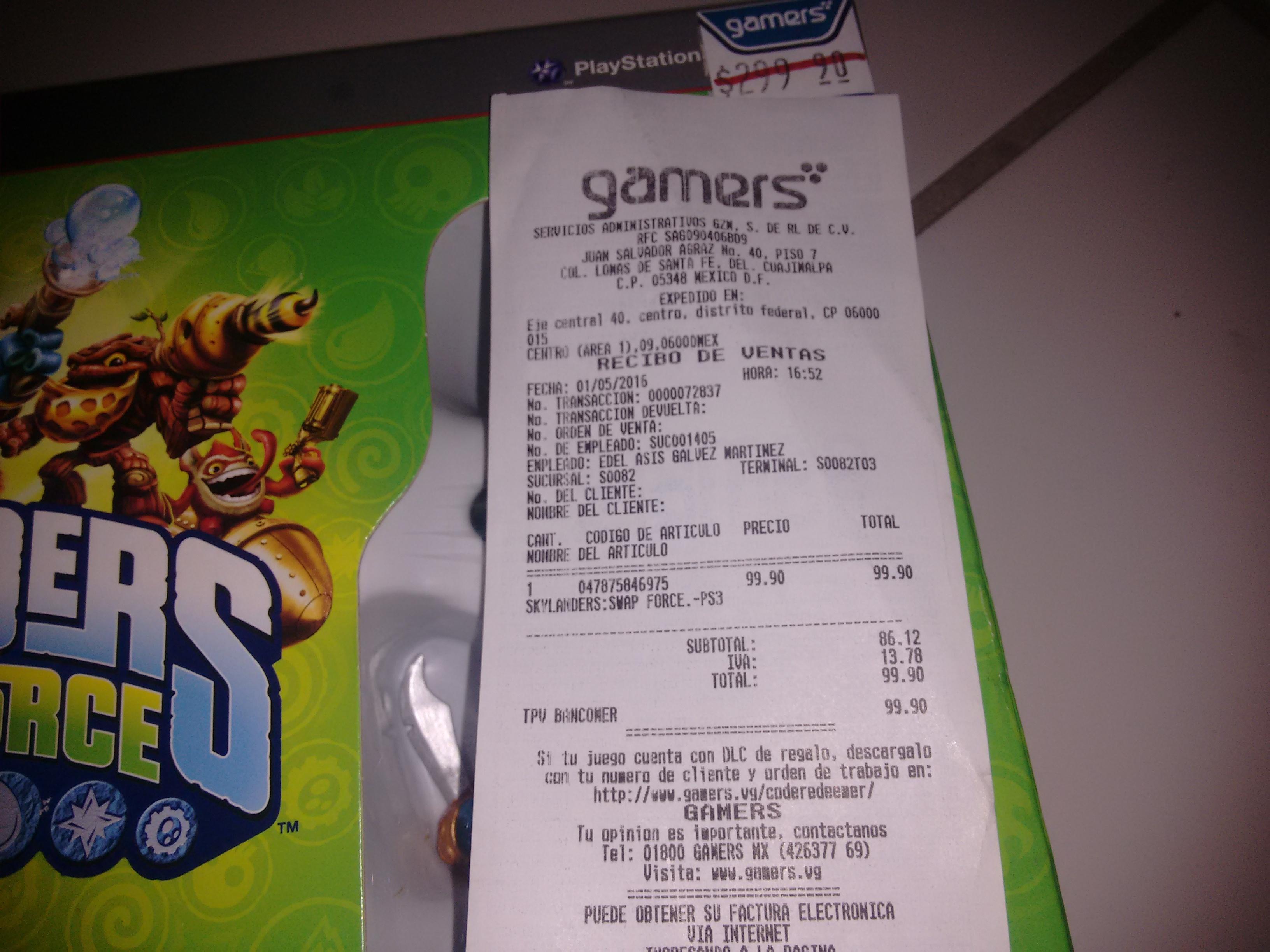 Gamers Retail:  Skylanders Swap Force Starter Pack para Playstation 3 a $99.90