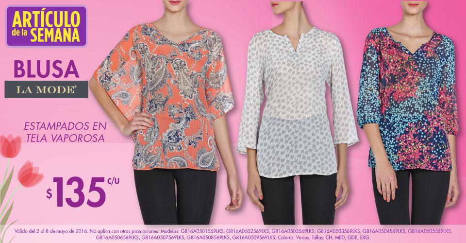 Suburbia: artículo de la semana Blusas La Mode estampada a $135