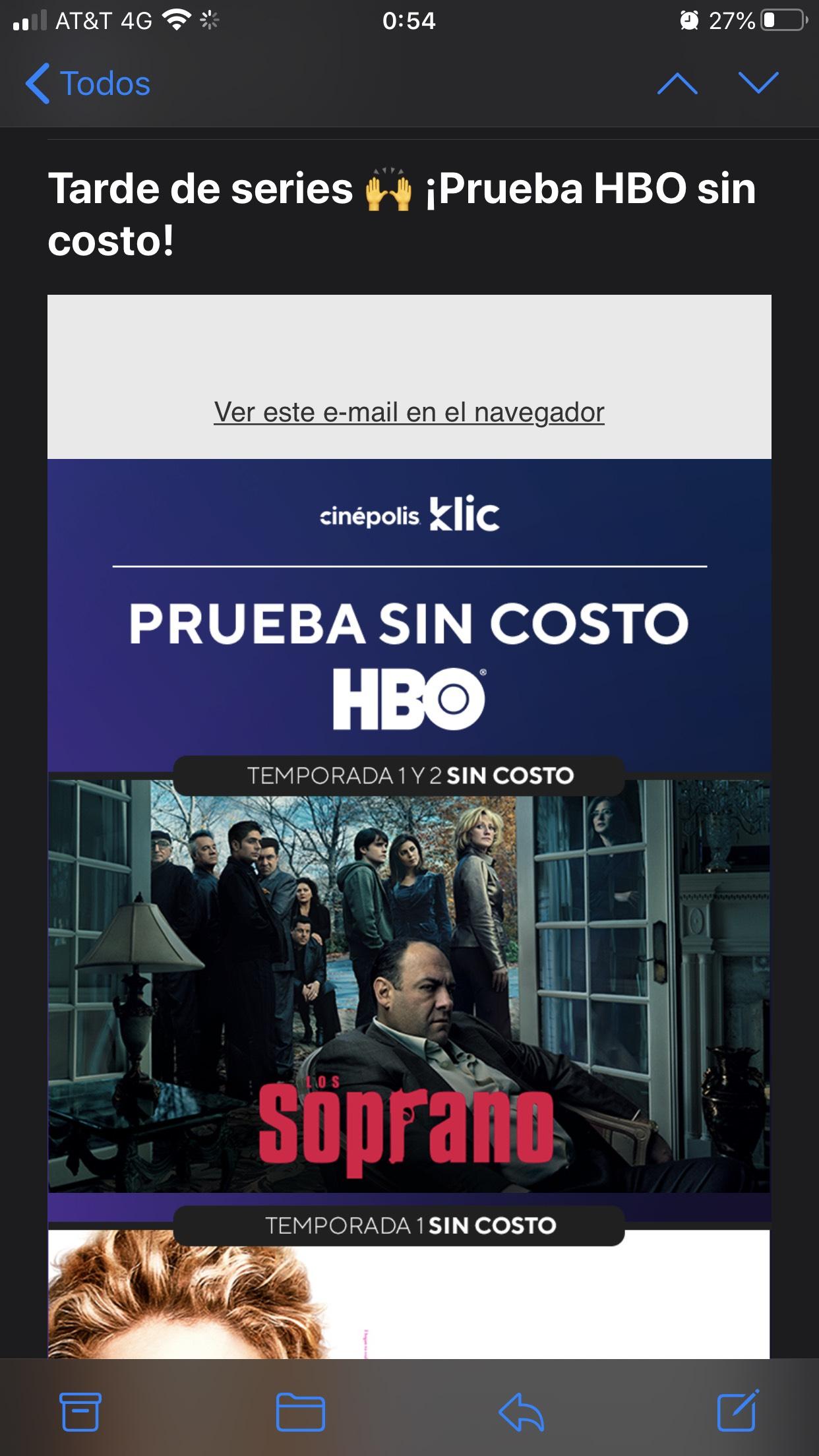 Cinépolis clik HBO GRATIS sin cupones. mes de mayo solo series seleccionadas