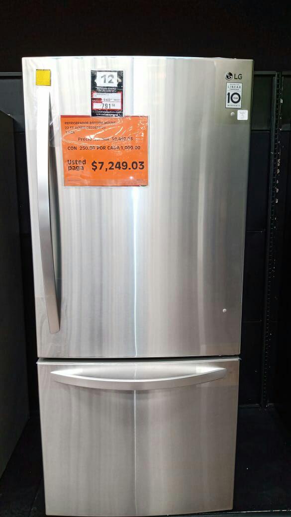 La comer Refrigerador LG 22pies