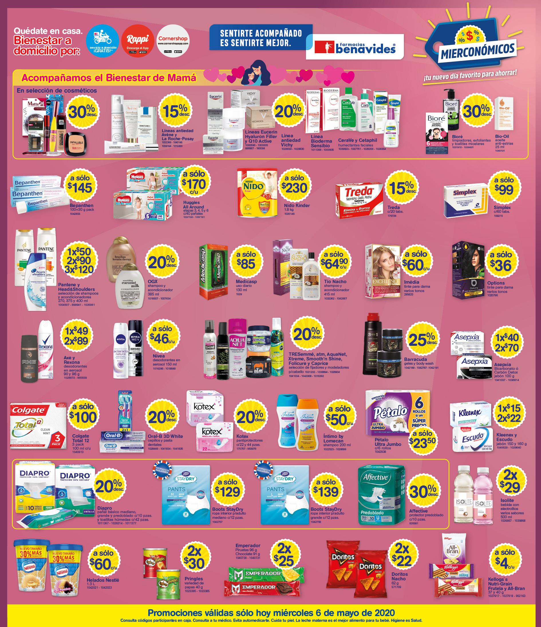 Farmacias Benavides: Mierconómicos 6 de Mayo
