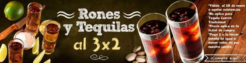 Superama: 3x2 en tequilas y rones