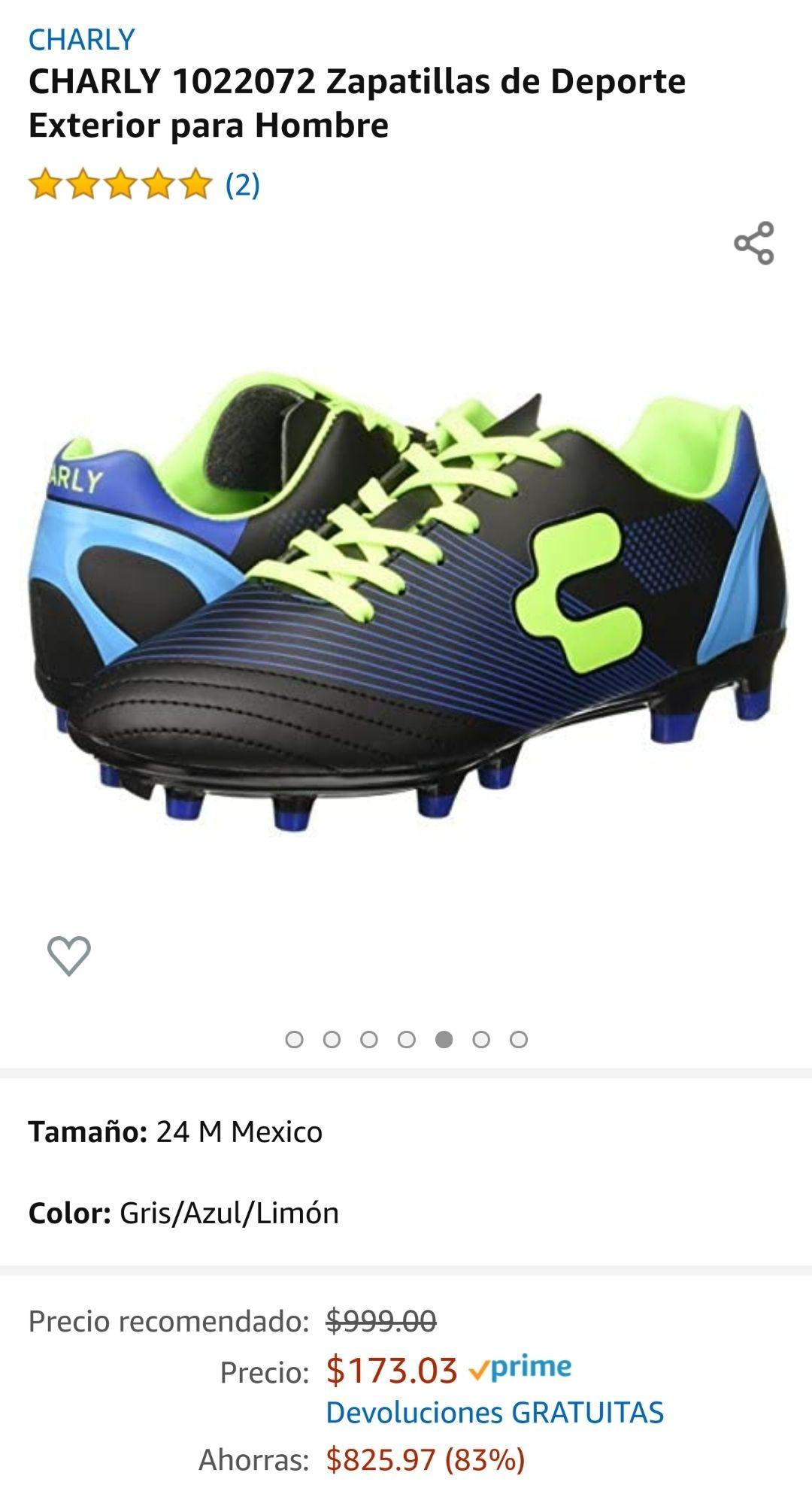 Amazon: Taquetes Charly futbol #24