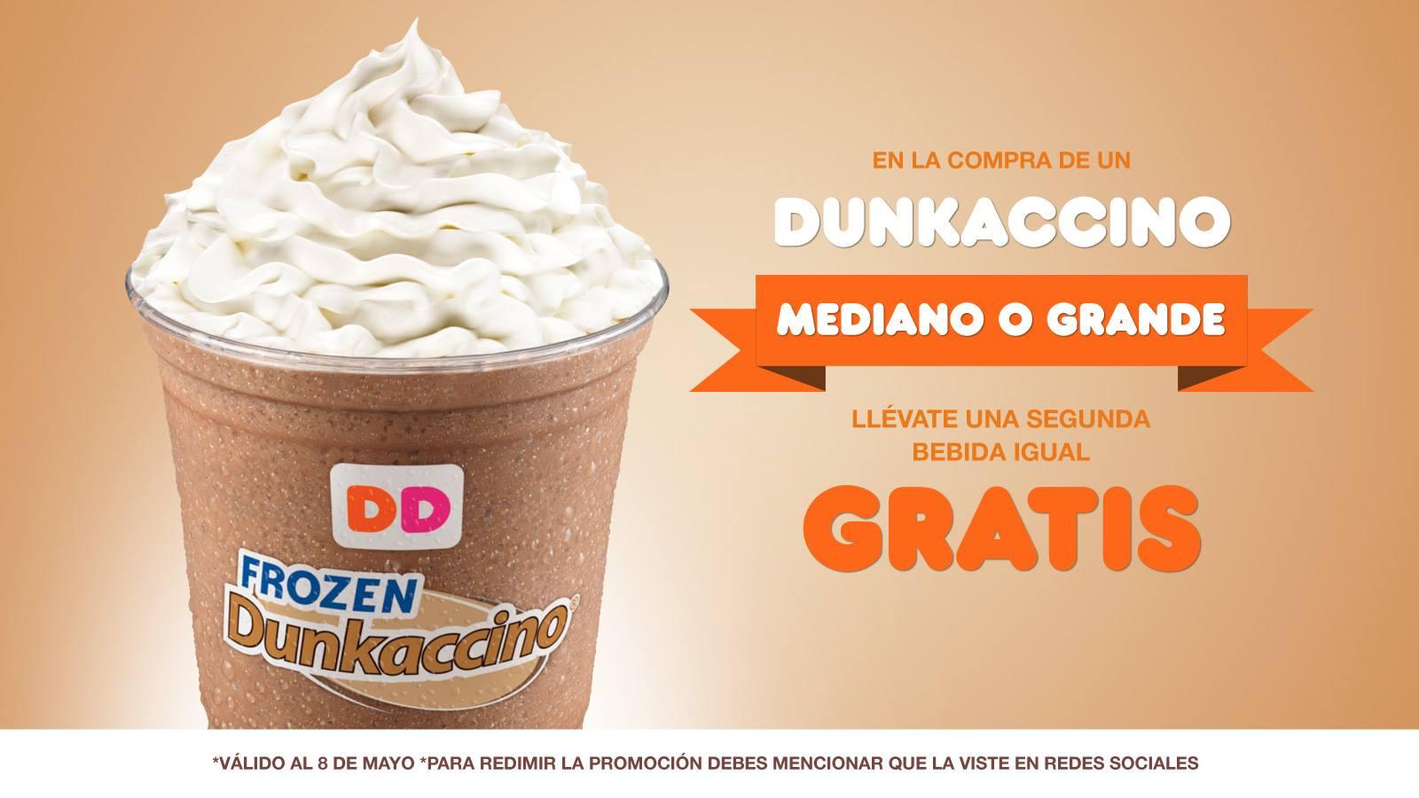 Dunkin Donuts: 2x1 en Dunkaccino