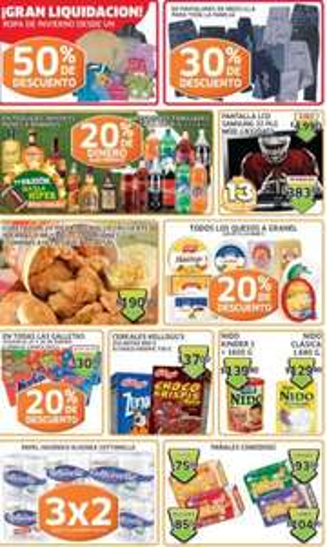 Soriana: 20% de descuento en todas las galletas y quesos a granel, monedero en tequila, ron y +