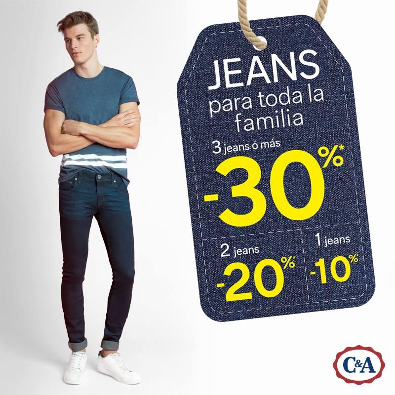 C&A: hasta 30% de descuento en jeans y concurso para el Día de las Madres.