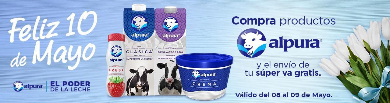 Chedraui: Envío gratis en súper en la compra de productos Alpura