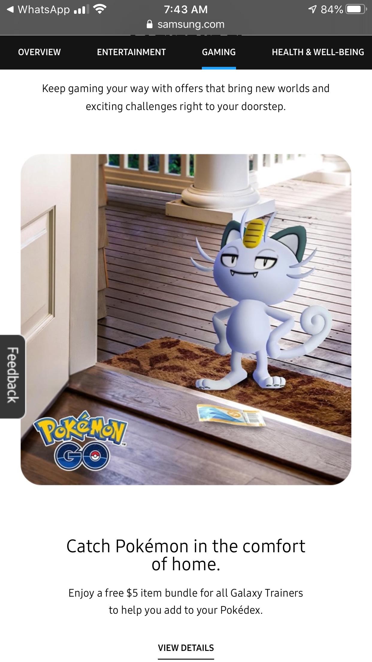 Samsung y Pokémon GO: Paquete Gratis con 3 inciensos, 1 Pokocho y 35 Pokéballs.
