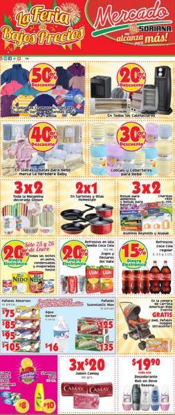 Mercado Soriana: 2x1 en sartenes Homestyle, 50% de descuento en chamarras, suéteres y más