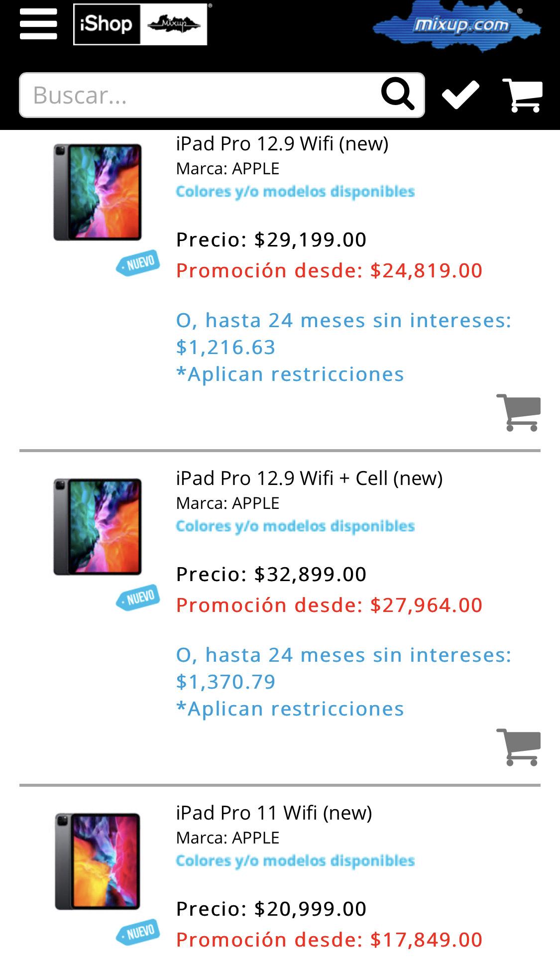 Ishop 15% en iPads pro 2020 +18 msi pagando paypal Citibanamex