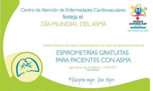 Espirometría para asmáticos GRATIS (Guadalajara)