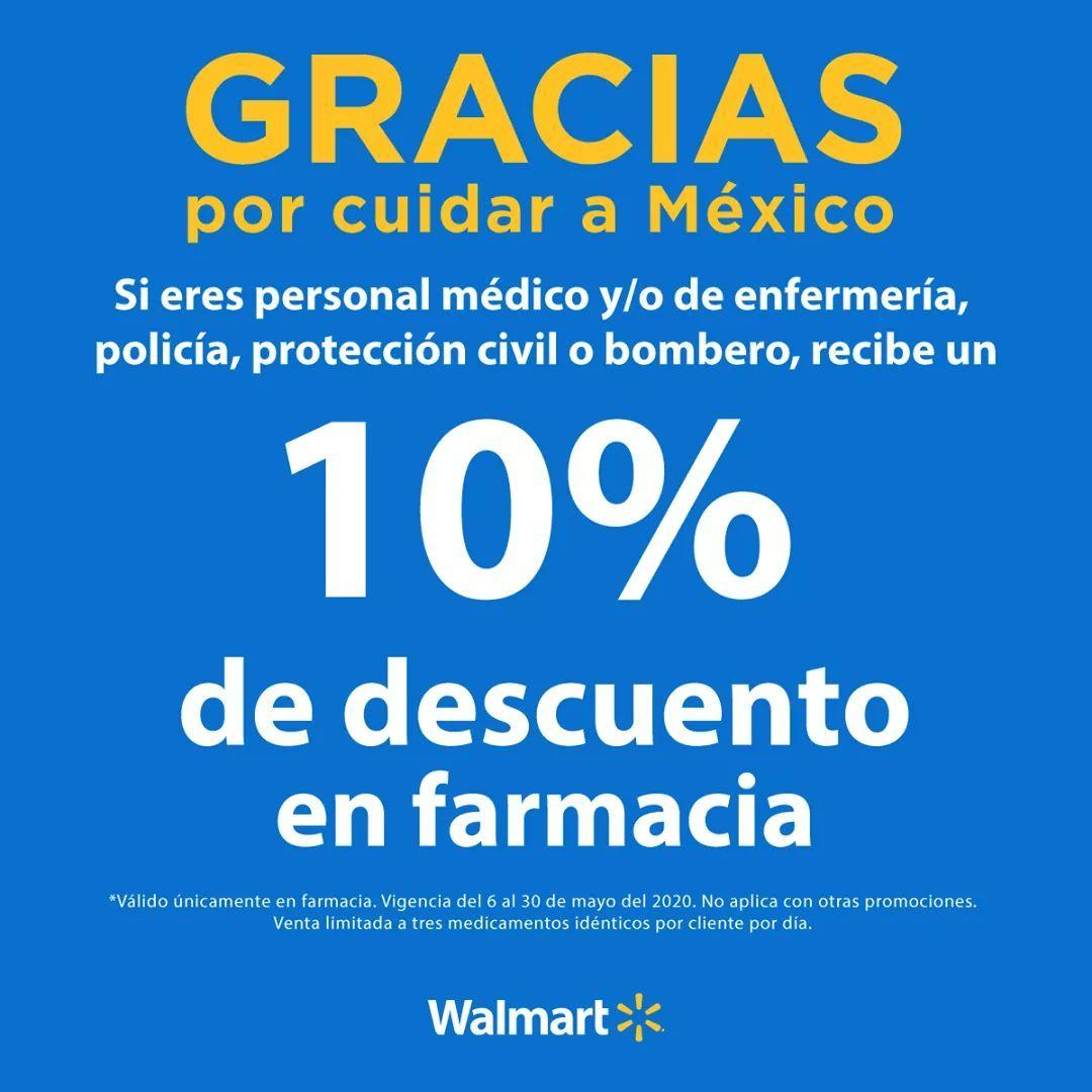 Descuento del 10% en farmacia, Walmart.