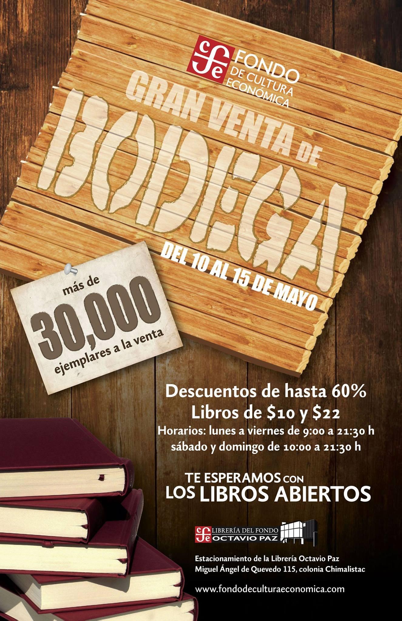 Fondo de Cultura Económica: Gran venta de Bodega, hasta 60% de descuento
