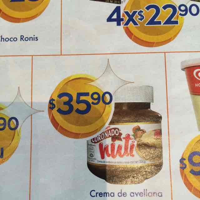 Chedraui: Crema de Avellana Nuti Coronado 350grs a $35.90, 20% descuento en Cajetas Coronado