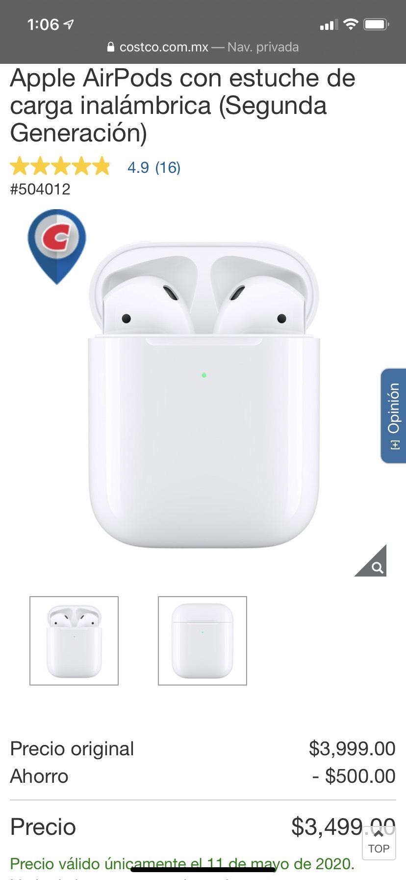 Costco: Apple carga inalámbrica