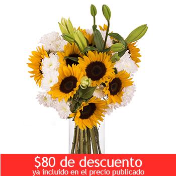 Costco en línea: Bouquet de girasoles, lilies y margaritas