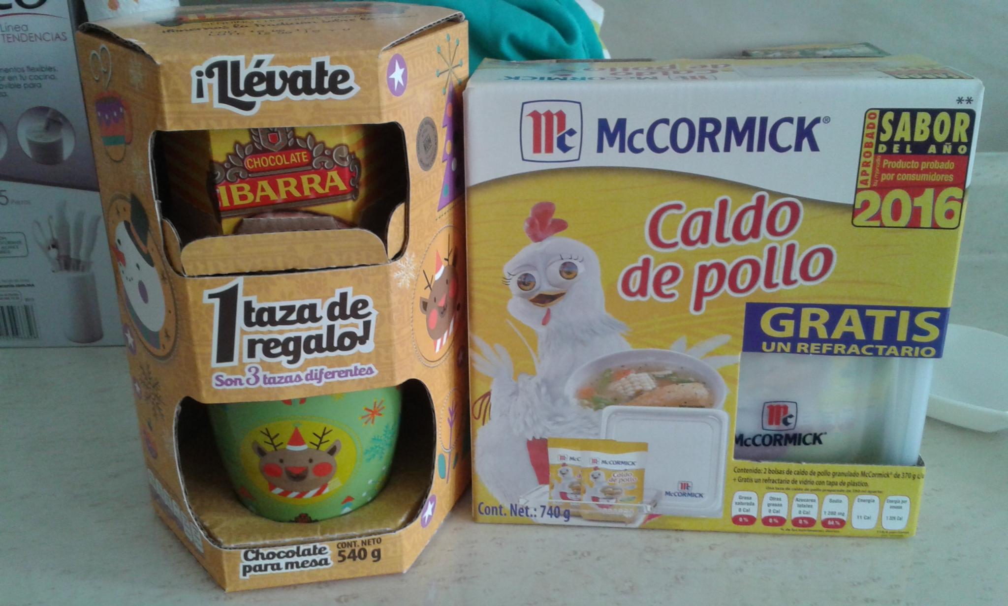 Walmart: Chocolate de mesa Ibarra a $27.03 y Consome McCormick con Refractario a $49.90
