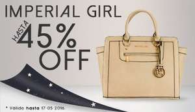 Gaudena: 45% de descuento en bolsas IMPERIAL GIRL, se puede combinar con cupones más envío gratis quedando en $263