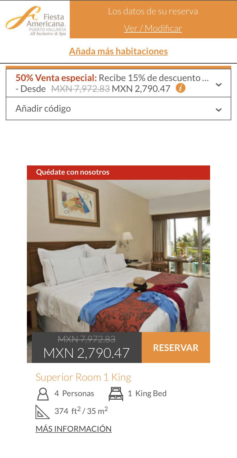 50% de descuento más 15% extra en hoteles Grupo Posadas