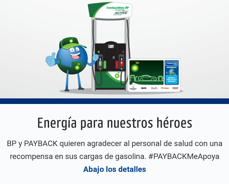 BP Energía para nuestros héroes: 10% de reembolso por carga de gasolina para personal de salud