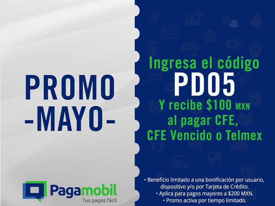 Pagamobil: $100 de bonificación al pagar CFE o Telmex