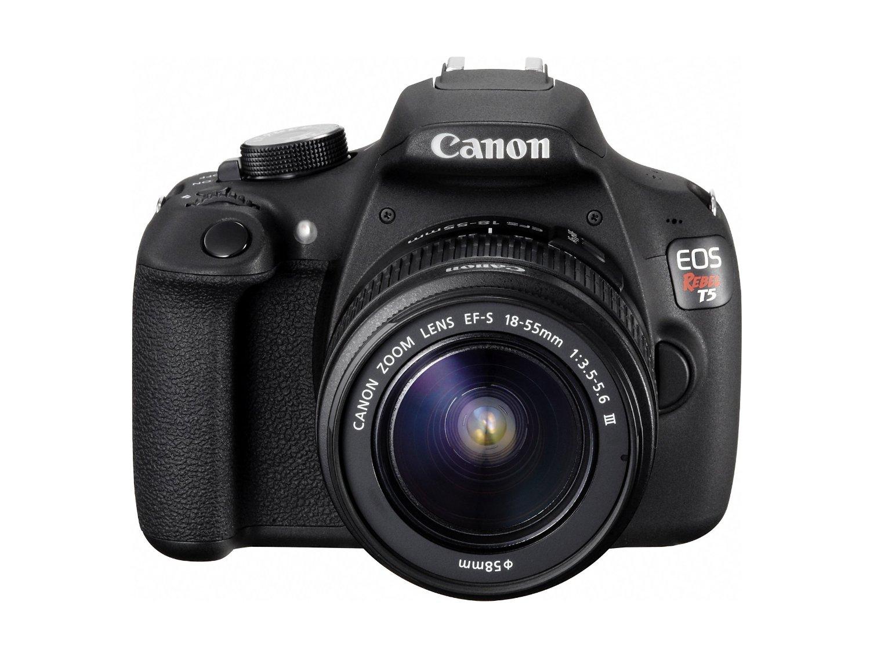 Amazon: Canon EOS Rebel T5 Cámara Digital SLR con Lente 18-55 mm