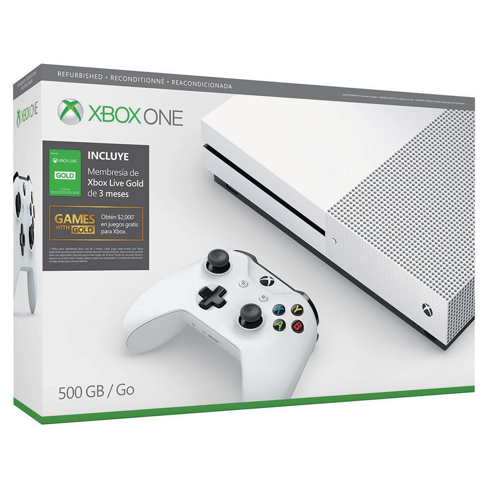Elektra: Consola Xbox One S 500 GB Reacondicionada más Tarjeta Live 3