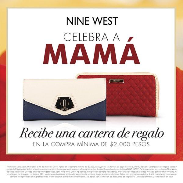 Promoción día de las madres Nine West: cartera gratis con compra mínima