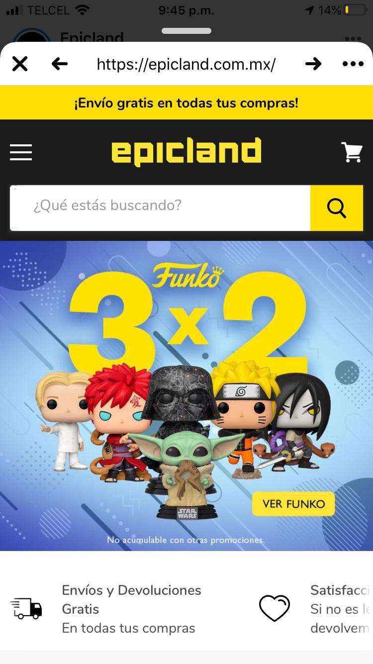 Epicland: 3x2 en FUNKOS
