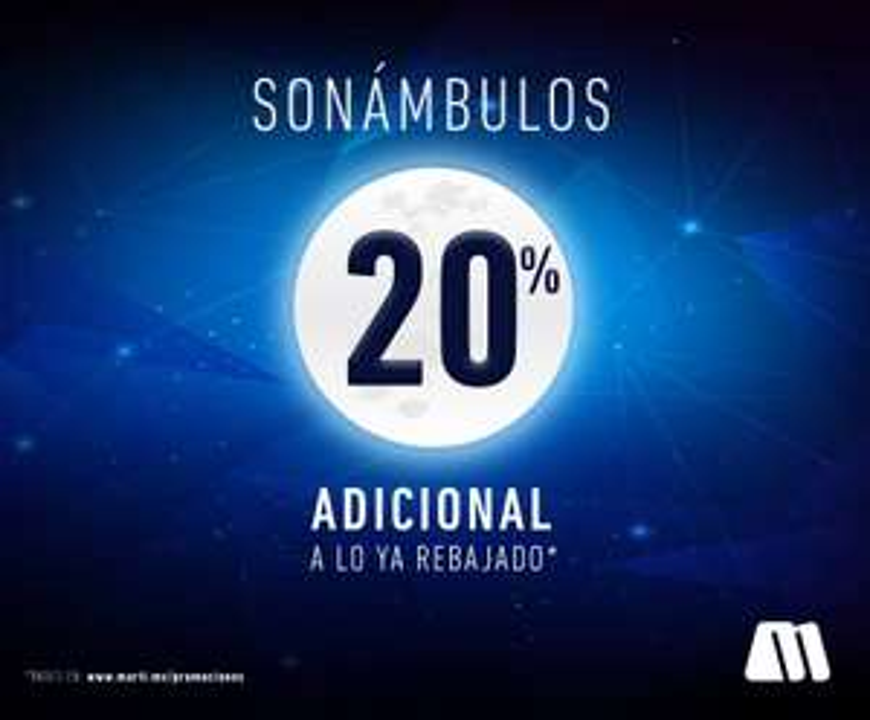 Venta nocturna Martí online: -20% extra en rebajas