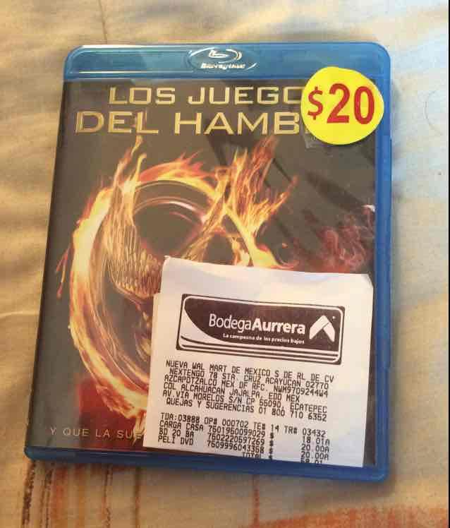 Bodega Aurrerá: película Blu-ray The Hunger Games a $20