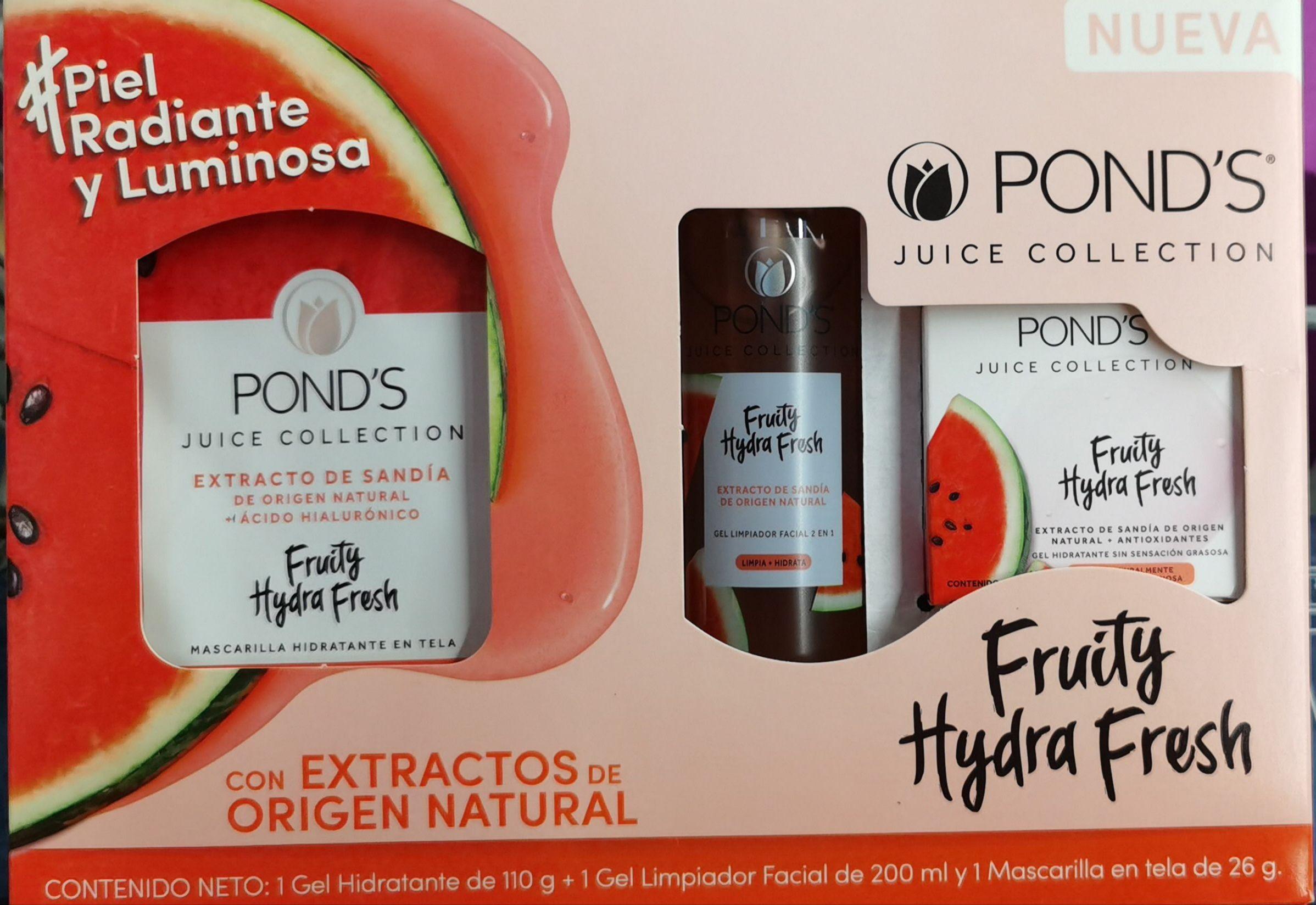 Sam's club Irapuato: set de Rutina Facial Pond's Fruity Hydra Fresh Sandía con 3 pzas