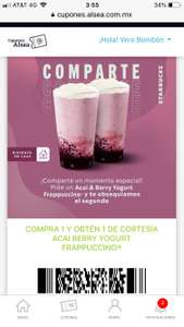 2x1 Starbucks bebida Acaí & Berry yogurt