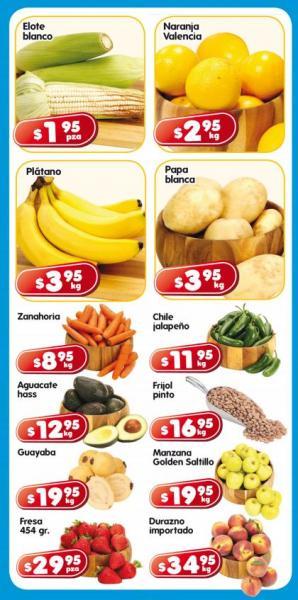 Frutas y verduras en HEB: elote blanco $1.95, naranja $2.95 y más