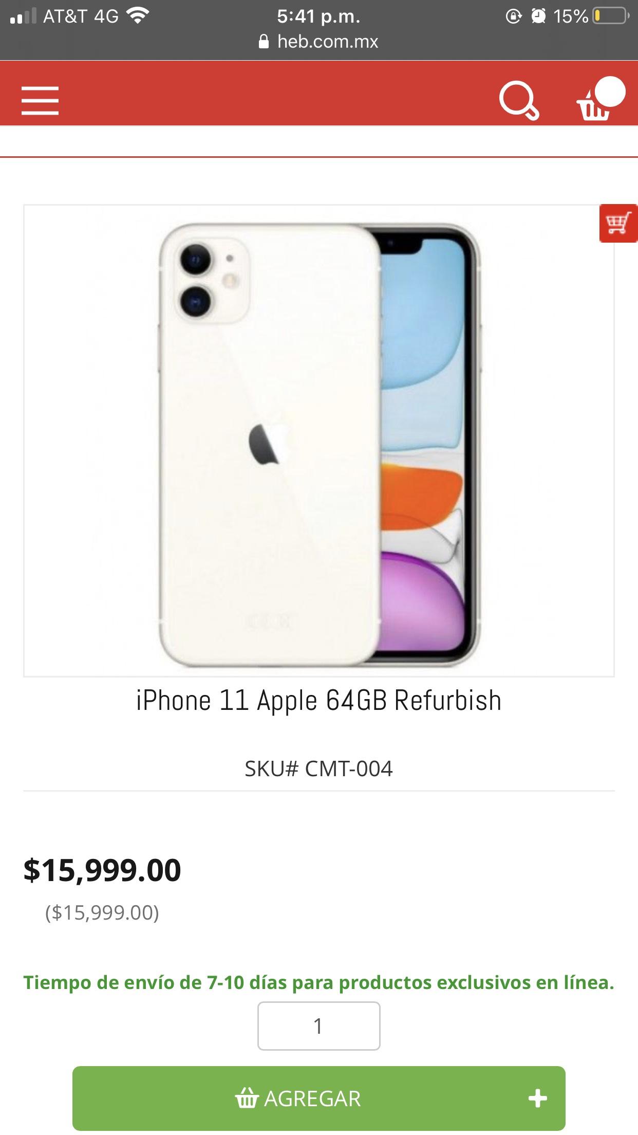 Heb: IPhone 11 64 gb