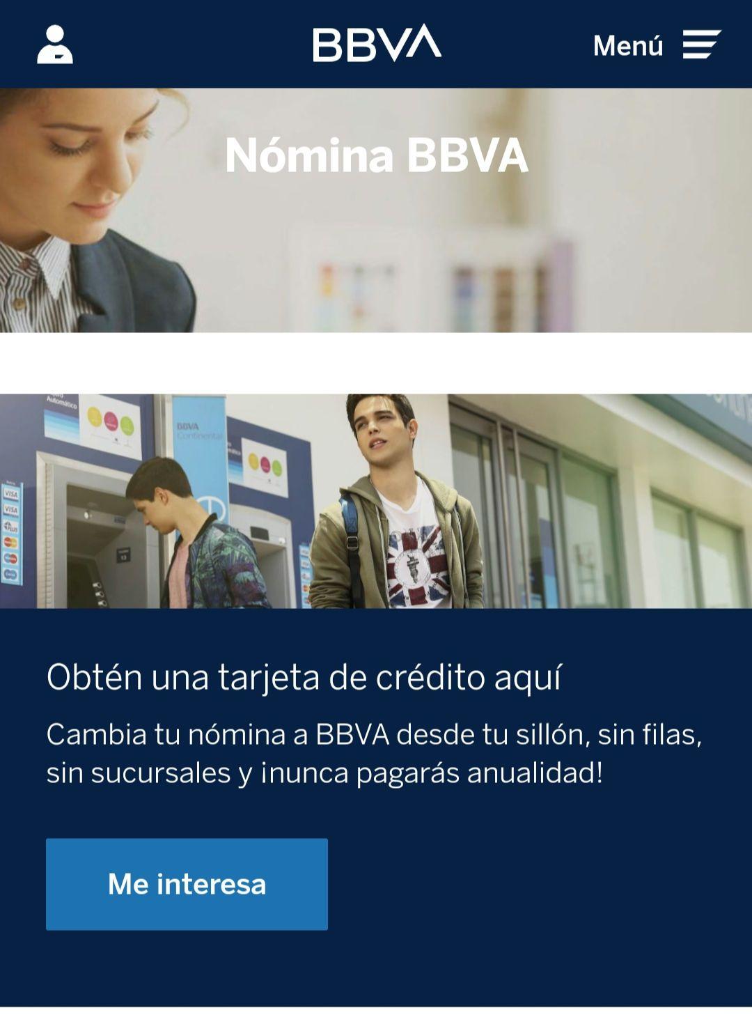 BBVA - Tarjeta de Crédito sin Anualidad
