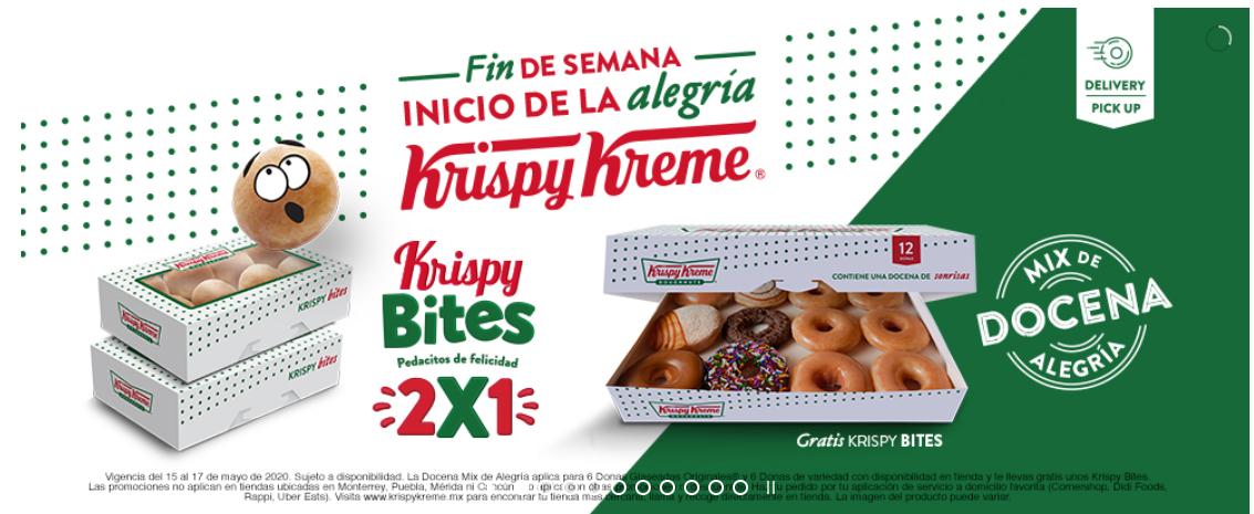 Krispy Kreme: Compra una Mix Docena Alegría y llévate gratis unos Krispy Bites