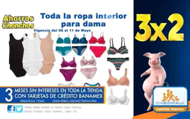 Promociones día de las madres en Chedraui: 3x2 en ropa interior y más