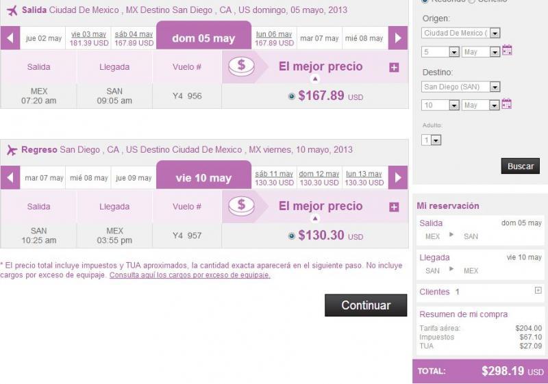 Volaris: viaje redondo desde y hacia EU desde $299 dólares