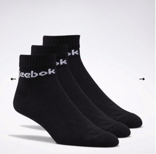 Reebok: Paquete de 3 calcetines