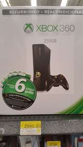 Bodega Aurrerá Observatorio: Xbox 360 Refurbished 250Gb a $2,990