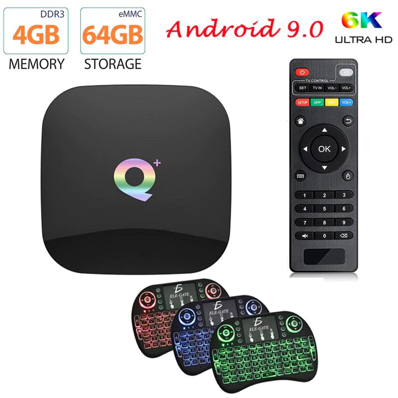 Aliexpress: Smartv box Android 9 4Gb Ram 64 internos 6K resolucion salida fibra optica