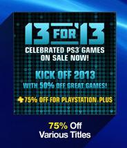 PlayStation Network: 50 ó 75% de descuento en 13 juegos