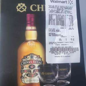 Walmart: Chivas Regal 12 de 750 ml + 2 vasos
