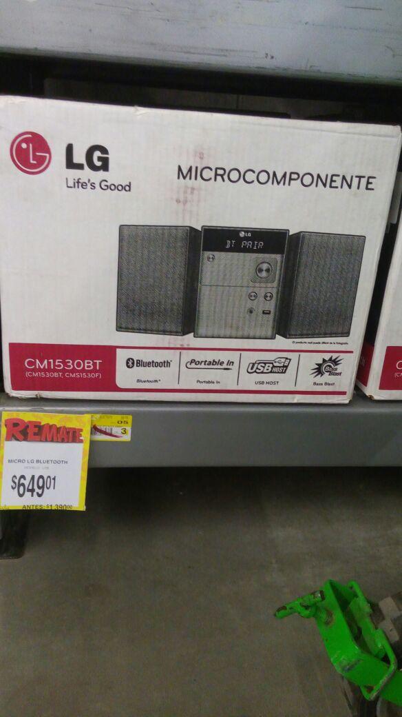 Bodega Aurrerá las torres Culiacan Sinaloa: Microcomponente LG (CM1530B7) a $649.01