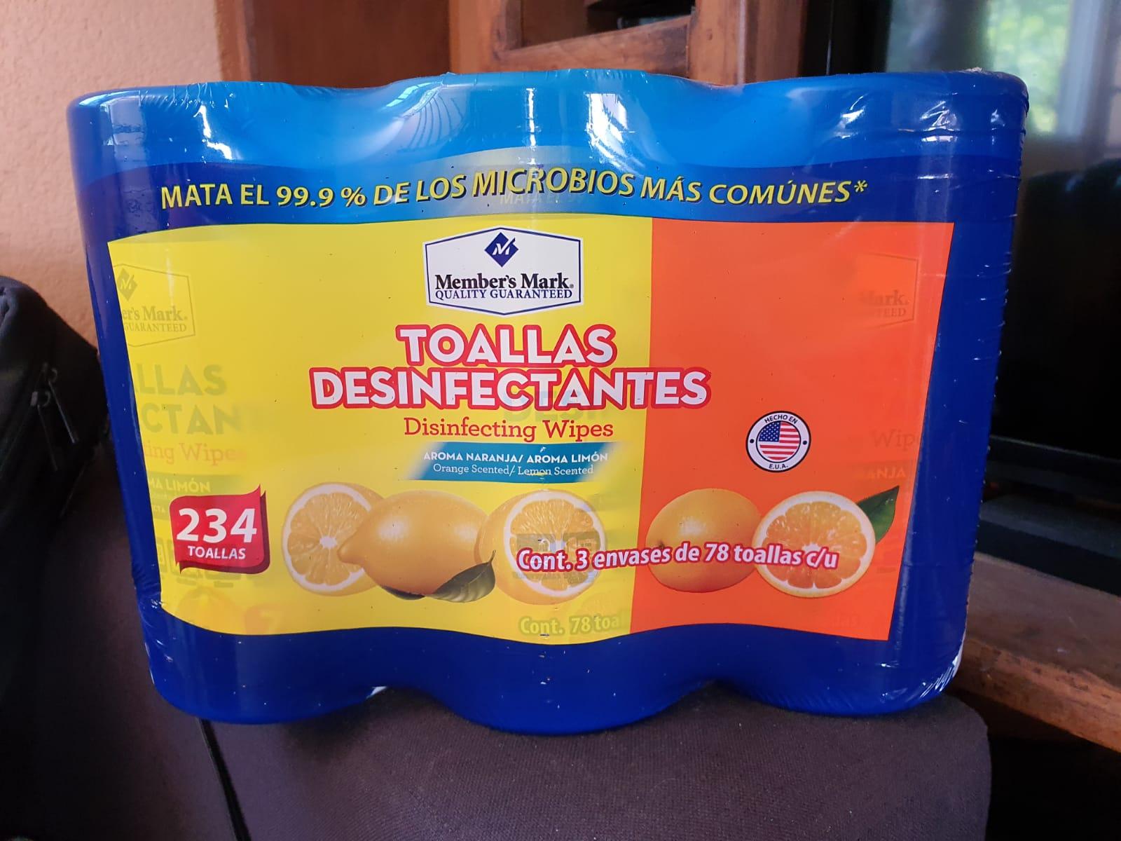 Sam's Club: Toallas desinfectantes Members mark, 3 piezas con 78 toallitas c/u