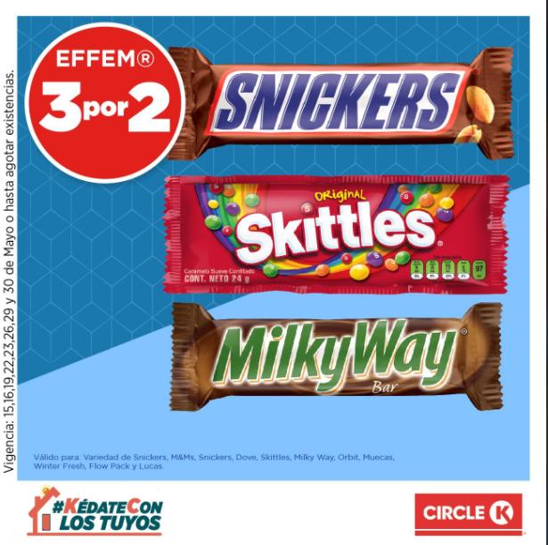Circle K: 3x2 en dulces y bebidas seleccionados