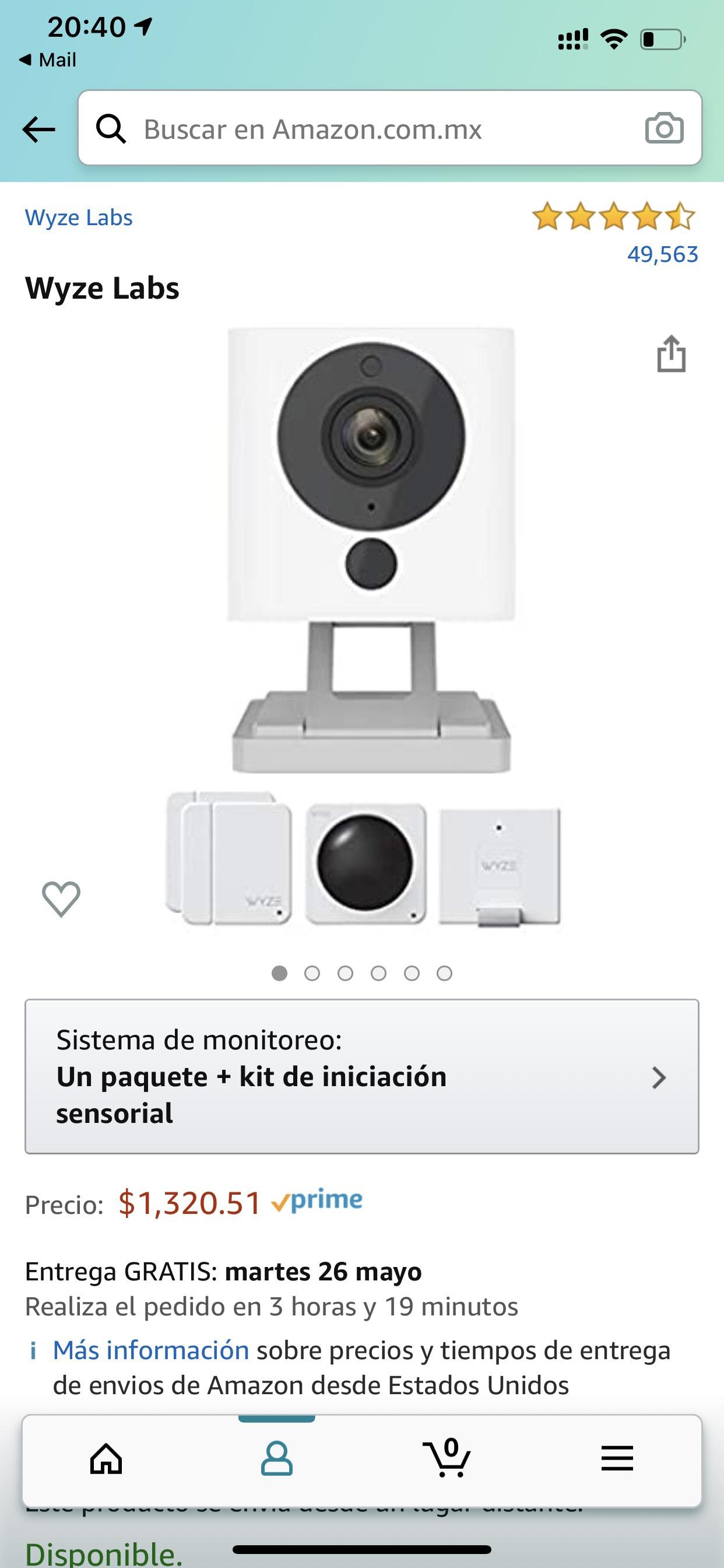 Amazon: Kit de Sensores y Cámara Wyze